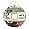 Rattail Cord 2mm 20 Yds With Re-useable Bobbin Espresso